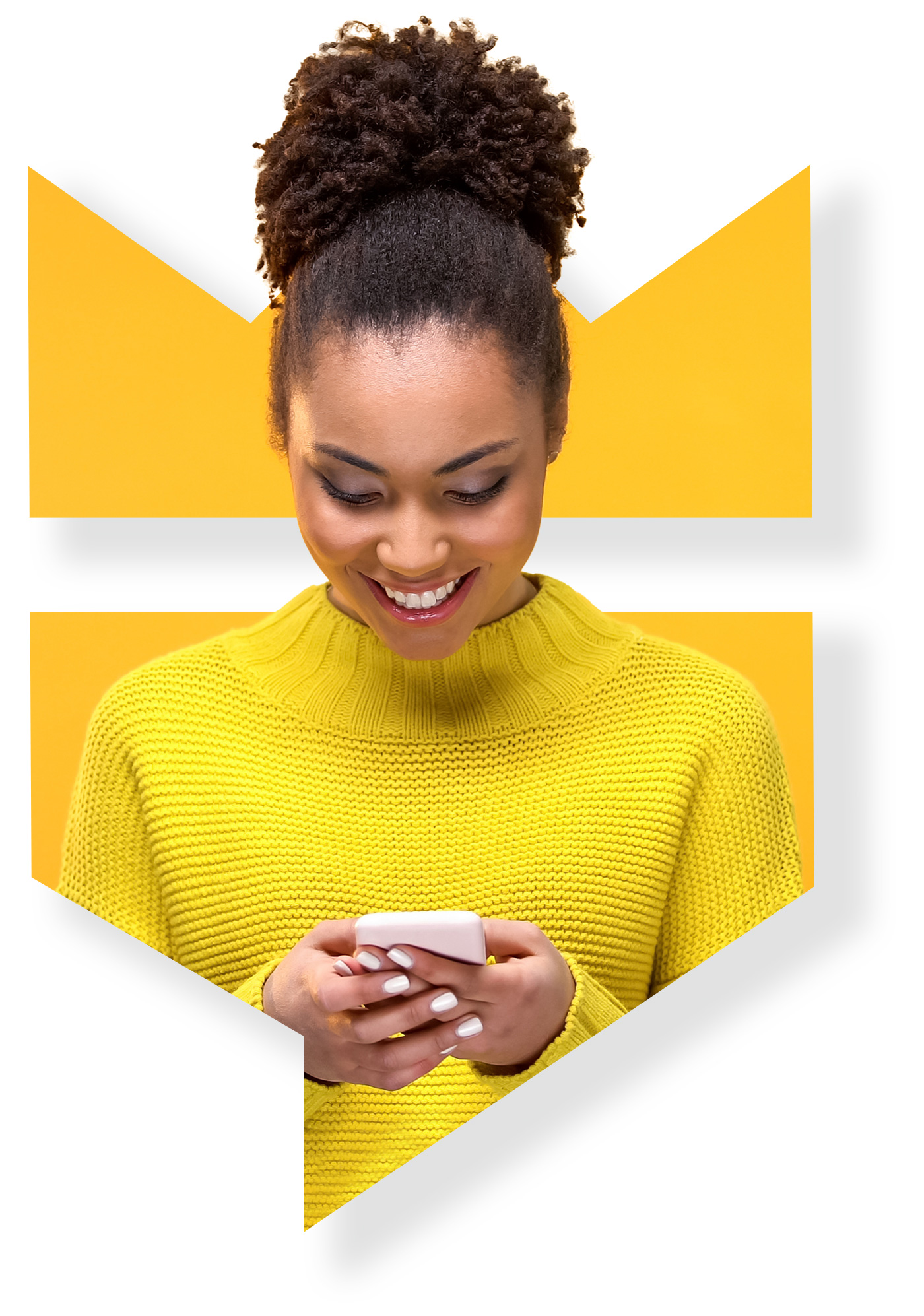 Person enjoying TextDealKing offers on phone